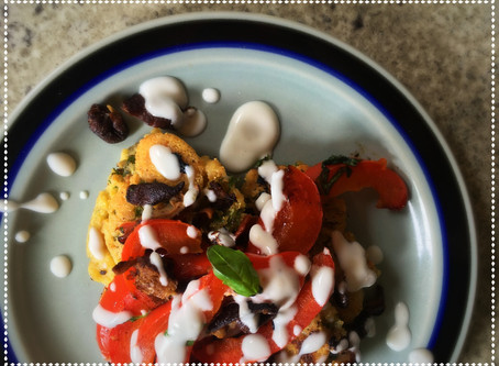 The Rumbly Tummy: Savory Corn Blini (and a Cook & Color Book Preview)