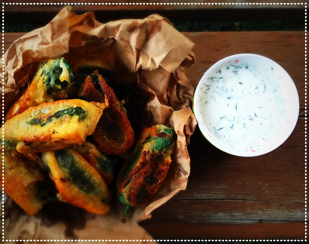 Beer Battered Jalapeno Poppers with Vegan Ranch