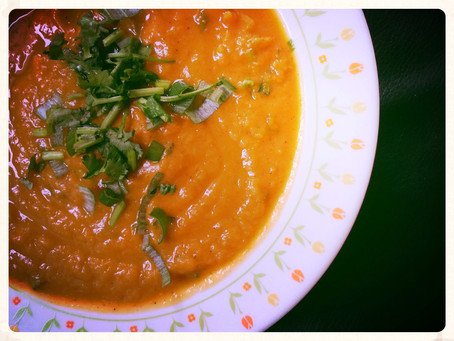 The Rumbly Tummy: Spicy Sweet Potato Soup