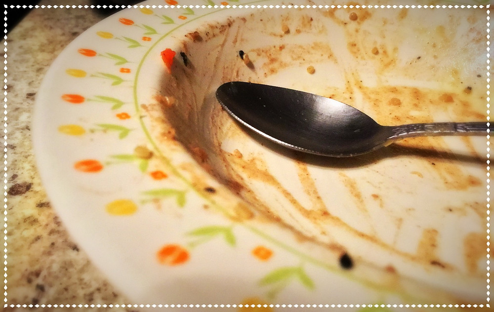 started with chopsticks, ended with a spoon.