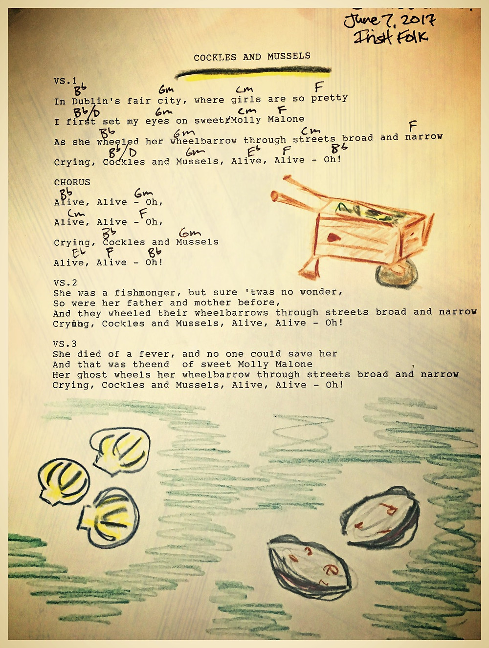 Cockles and Mussels music & lyrics