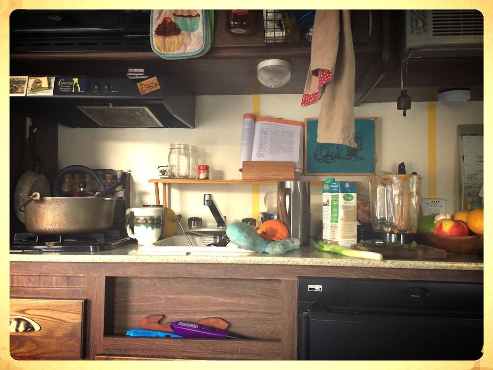 Our teeny tiny kitchen.