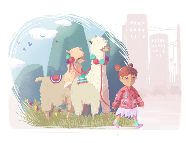 Mila and her Lamas