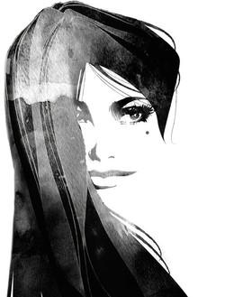 Ink and Digital illustration