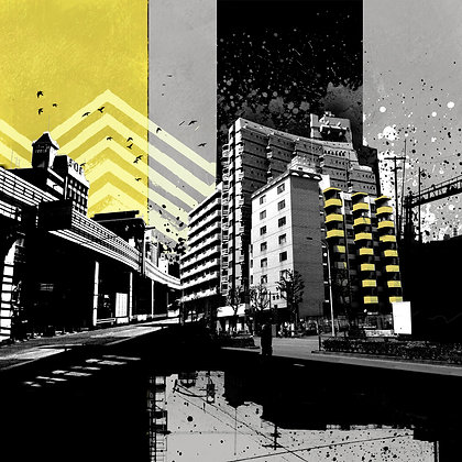 "CMYK Triptych - Yellow- 16x16"" - Signed"