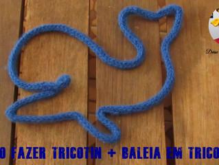 Passo a Passo - Como fazer Tricotin + Baleia em Tricotin