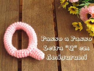 "Passo a Passo - Letra ""Q"" em Amigurumi"
