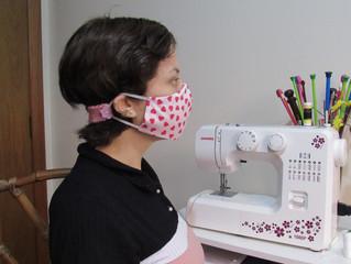 Extensor de máscara em crochê
