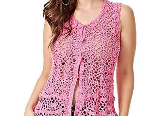 Passo a Passo - Blusa Glamour Rosa de Crochê
