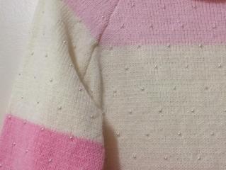Como colocar pérolas direto no seu tricô feito a máquina