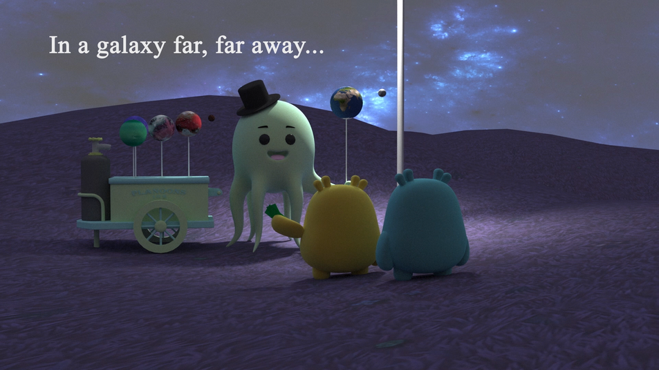 The Alien and the balloon