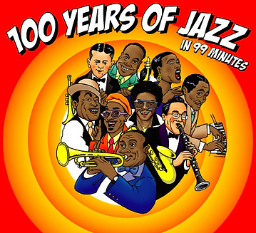 100 Years of Jazz in 99 Minutes, the sell out hit concert seen around the world, from London's Cadogan Hall to Barbados, with the best jazz musicians playing all your favourite tunes, from Benny Goodman to Duke Ellington and more.