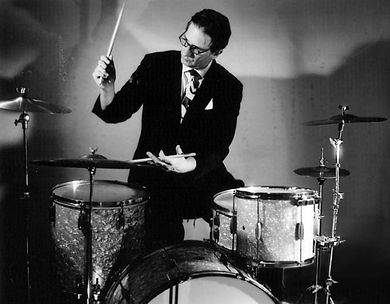 Richard Pite, founder of long established music agency Party Jazz, of Jazz Repertory Company - the UK's premier producer of authentic live recreations of the greatest music in jazz history - & professional musician playing drums, double bass, sousaphone