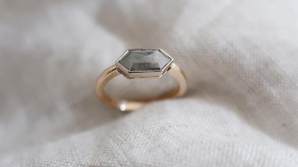 Salt and pepper diamond Lexi ring
