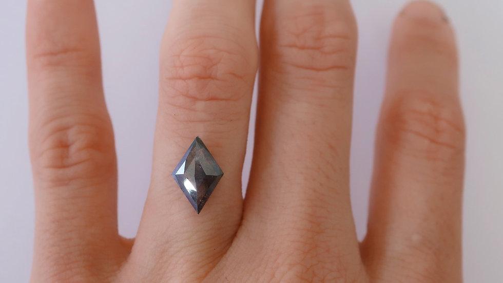 Kite cut salt and pepper diamond large