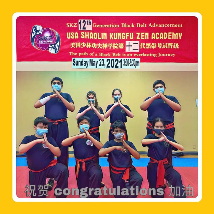 SKZ 12th Generation Black Belt Advancement
