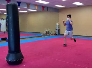 jumping side push kick