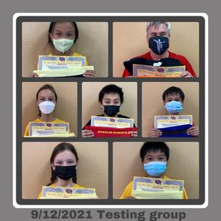 9/12/2021 Testing group