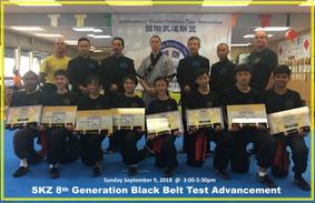 SKZ 8th Generation Black Belt Test Advancement