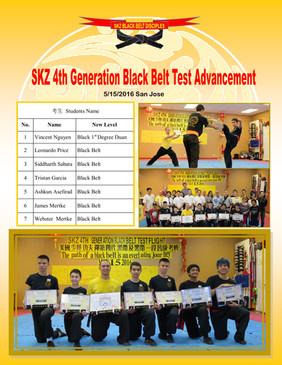 SKZ 4th Generation Black Belt Test Advancement