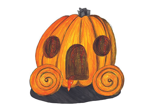Gabriella Wilde- Cinderella pumpkin two.