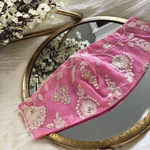 Bright Pink + Golden Floral