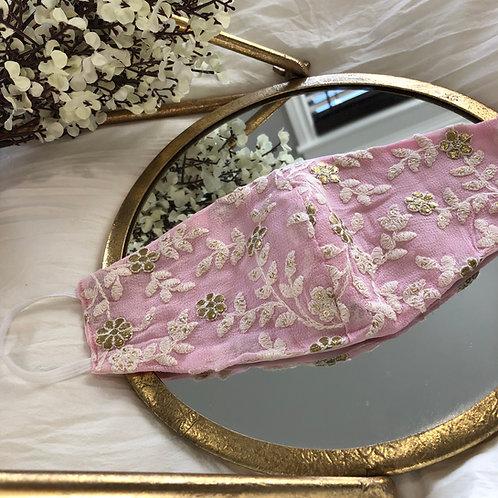 Light Pink + Golden Floral