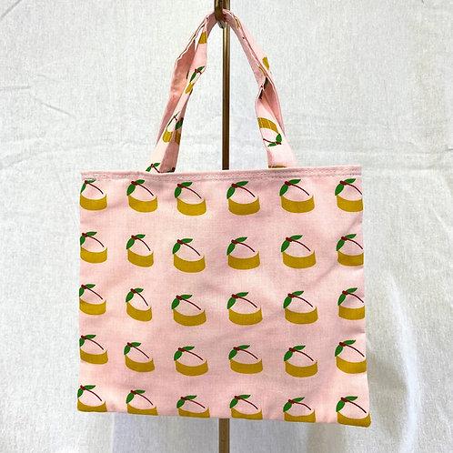 桃カステラの豆トートバッグ