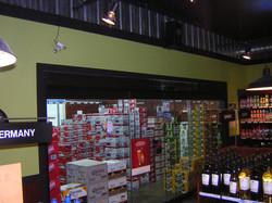 All glass bipart slider Liquor Store walk in cooler