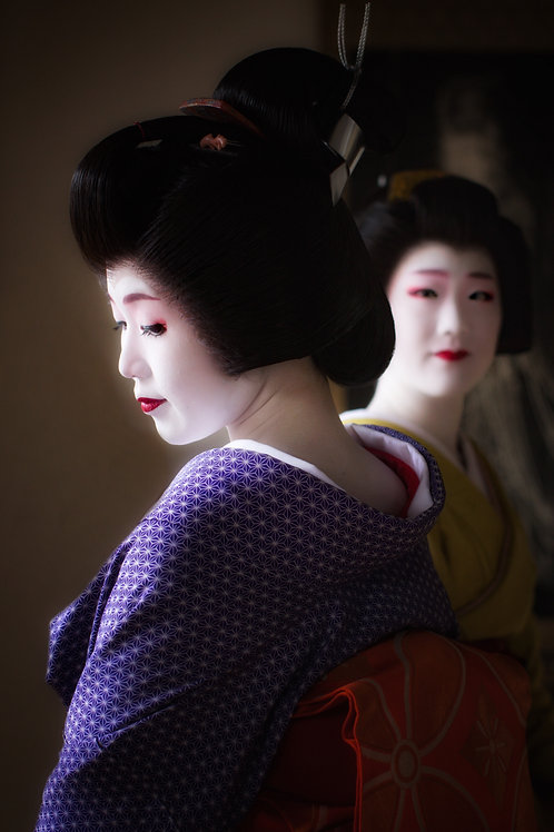 "Geisha Sisters 8"" x 12"" Fine Art Print"
