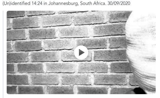 (Un)identified 14:24 in Johannesburg, South Africa. 30/09/2020