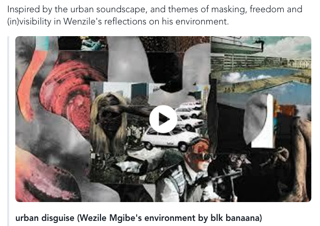 urban disguise (Wezile Mgibe's environment by blk banaana)