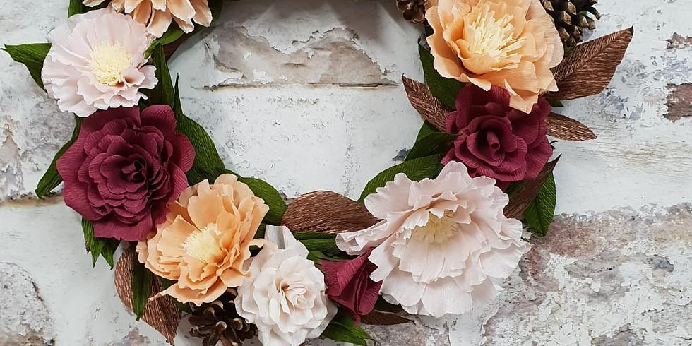 Paper flower wreath workshops