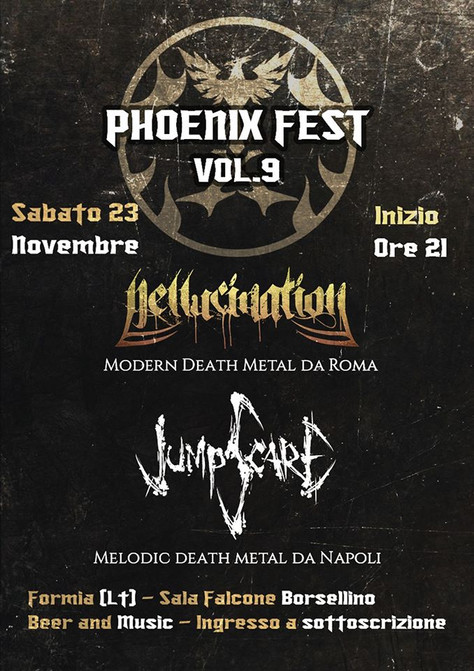 NEW GIG AT PHOENIX FEST IN FORMIA (ITALY)