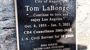 Tom LaBonge Memorial Plaque Permanently Installed