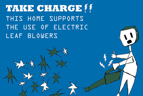 Here's to Peace and Quiet: SLT Offers Free Electric Leaf Blower Signs