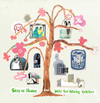 stay home and lets feel spring together