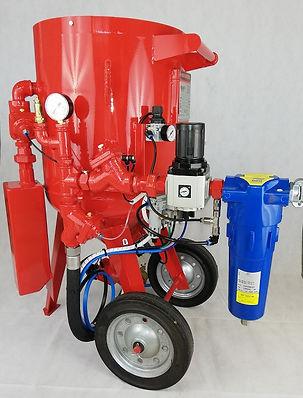 Sableuse mobile pour chantier, machine de sablage portative, aerogommeuse portative, système de sablage en vente, décapage rapide