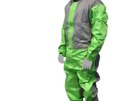 Combinaison RPB Grise Verte Nylo Coton2.