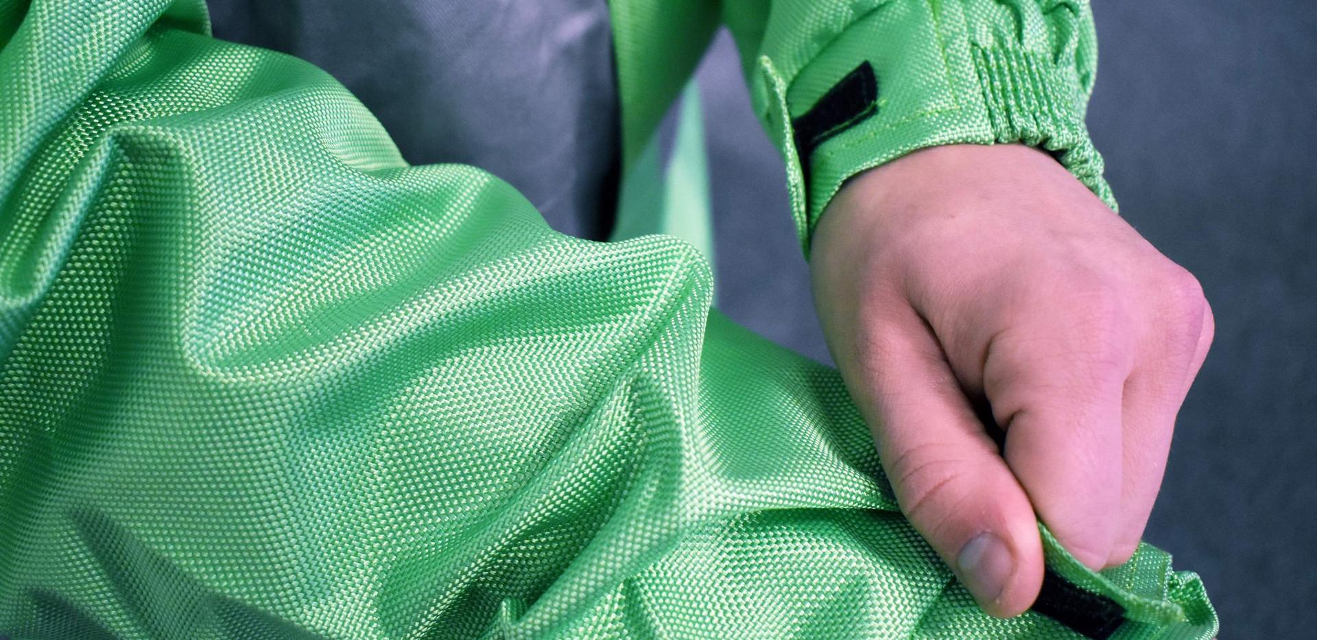 Combinaison RPB Grise Verte Nylo Coton7.