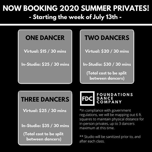 NOW BOOKING 2020 SUMMER PRIVATES!!! Star