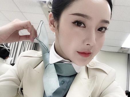 纽约全球真实大韩航空空姐