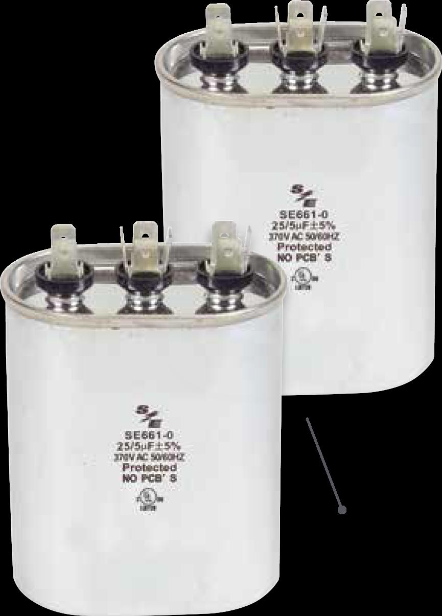 capacitores ovalados dual