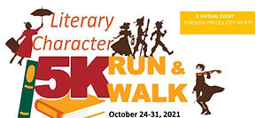 logo for Literary character 5K Run & Walk
