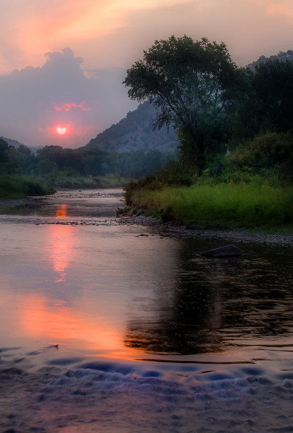sunrise on the eagle river colorado
