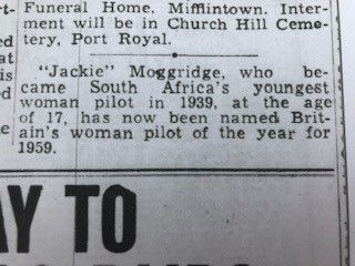 British Woman Pilot of the Year Press SA