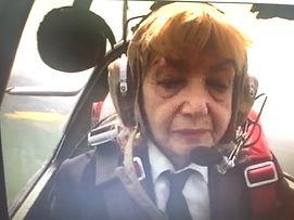 Jackie in cockpit ML407.jpg