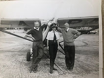 Weston Pleasure flying 1960 with Bob Rid