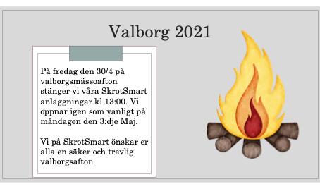 Valborg 2021