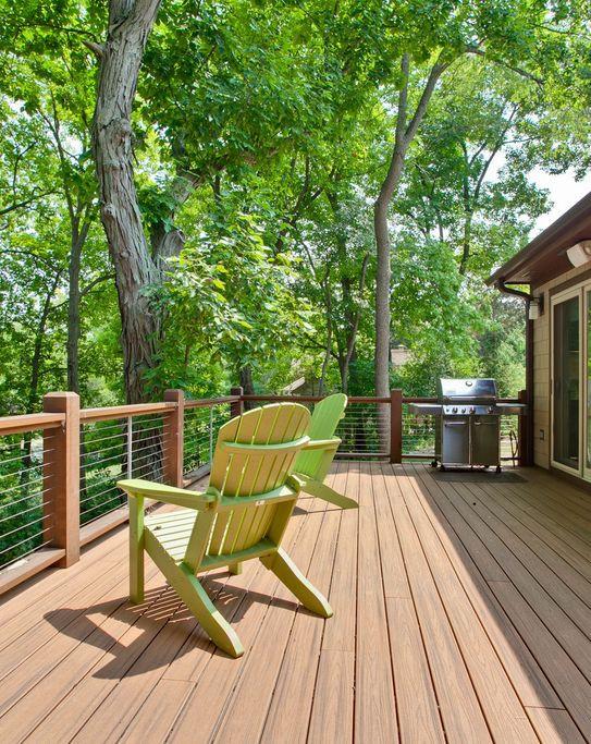 Tower Lakes Lake Home Deck Design